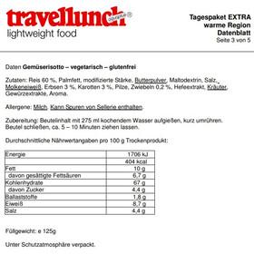 Travellunch Daypack Standard Repas outdoor 7/10 pièces, Warm Regions